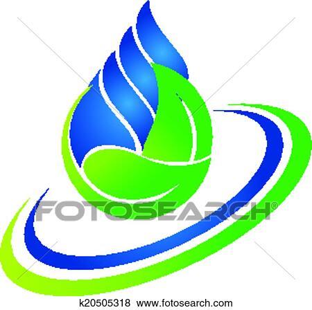 clip art of water drop and green leaf logo k20505318 search rh fotosearch com clip art logo design free clipart logic
