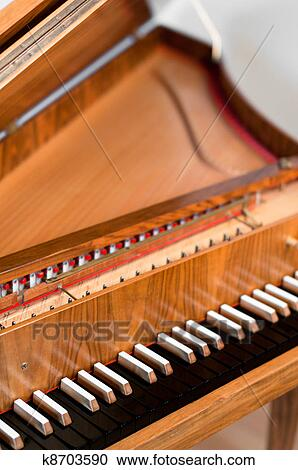 Stock Photography of Harpsichord Keyboard k8703590 - Search Stock ...