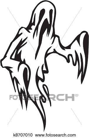Clipart Fantme Halloween Ensemble Vecteur Illustration K8707010 Recherchez Des