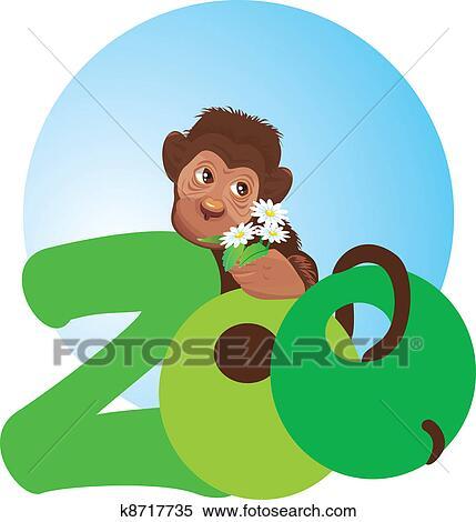 Little Monkey Murals Clipart Little Monkey With
