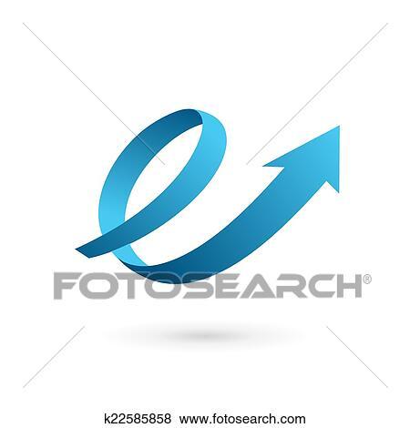 Clip art of letter e arrow loop logo icon design template elements clip art letter e arrow loop logo icon design template elements fotosearch search spiritdancerdesigns Images