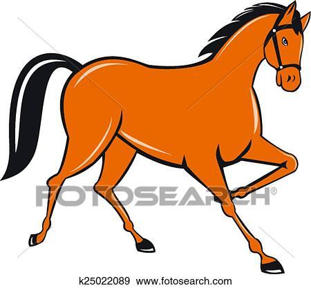Clipart cheval avancer petit galop c t dessin anim k25022089 recherchez des cliparts - Clipart cheval ...