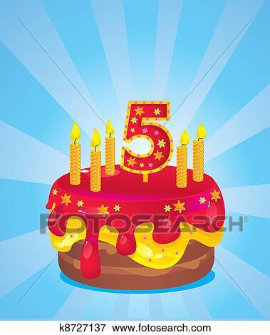 Картинки тортов с пятью свечами
