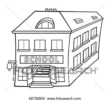 Clipart Schule Schwarz Weiß