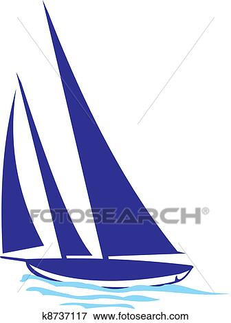 clip art of yacht silhouette k8737117 search clipart illustration rh fotosearch com yacht clipart free yacht clipart illustrations