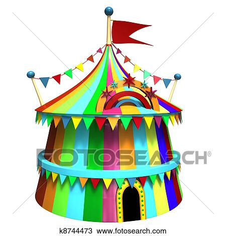 Drawing - Illustration of a circus tent. Fotosearch - Search Clipart Illustration Fine  sc 1 st  Fotosearch & Drawing of Illustration of a circus tent k8744473 - Search Clipart ...