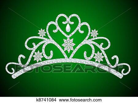 手绘图 - 王冠, 女性,