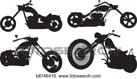 Clip Art Of Bike Chopper K8746416 Search Clipart