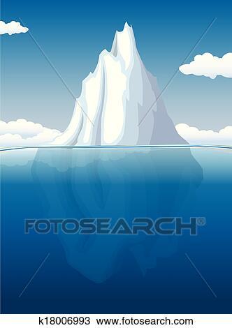 Clipart of iceberg k18006993 search clip art for Clipart iceberg
