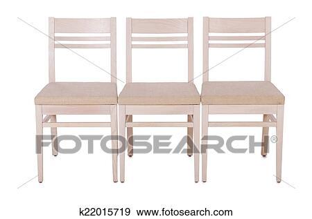 Stuhlreihe clipart  Stock Fotograf - stuhlreihe, freigestellt, auf, dass, weiß ...