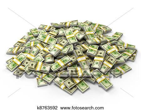 clip art of pile of dollar bundles k8763592 search clipart rh fotosearch com Money Clip Art Black and White pile of money clipart