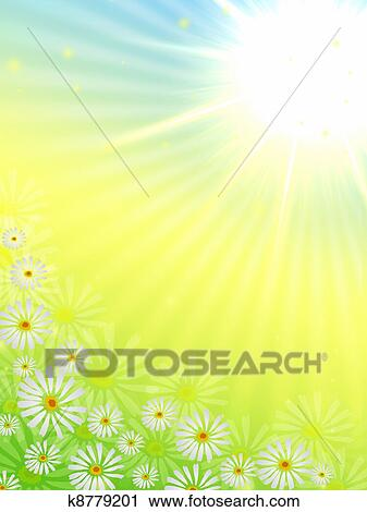 Clipart of spring flowers with sun k8779201 search clip art clipart spring flowers with sun fotosearch search clip art illustration murals mightylinksfo