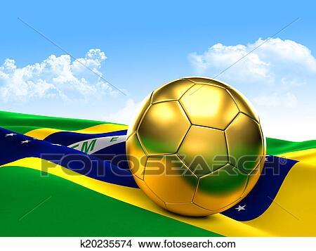 手绘图 - 金色, 足球图片