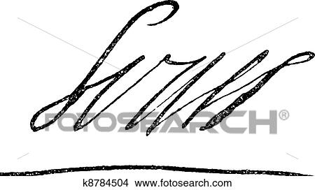 clipart of signature of louis xiv or louis the great or. Black Bedroom Furniture Sets. Home Design Ideas