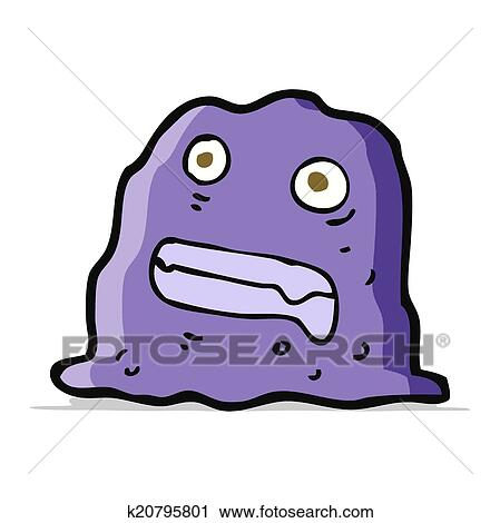 clipart of cartoon slime creature k20795801 search clip art rh fotosearch com slime clipart black and white slime monster clipart