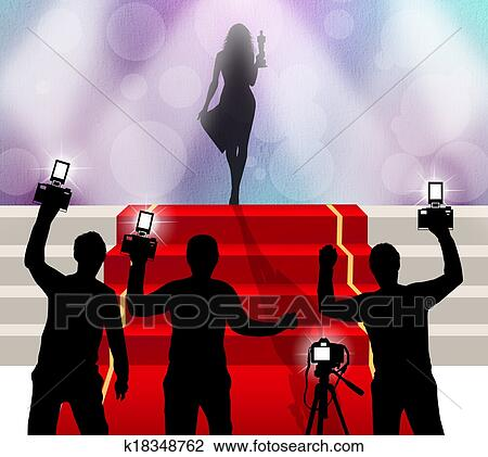 Clip Art Of Red Carpet Celebrity K18348762 Search