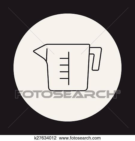Messbecher clipart  Clipart - meßbecher, linie, symbol k27634012 - Suche Clip Art ...