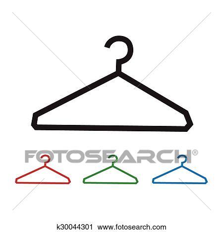 Kleiderständer clipart  Clipart - kleiderständer, symbol k30044301 - Suche Clip Art ...