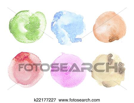 Stock Illustration Of Abstract Colorful Watercolor Aquarelle Hand