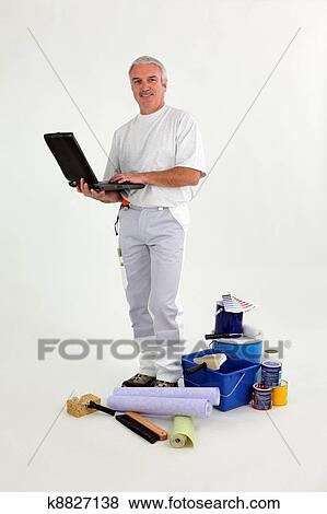 Pictures Of Painter Decorator K8827138 Search Stock