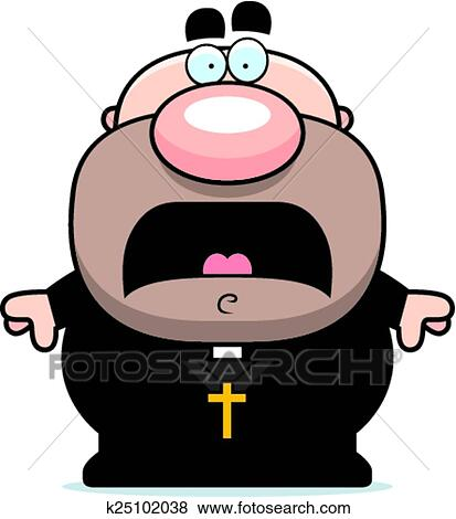 clip art of scared cartoon priest k25102038 search clipart rh fotosearch com priest clip art images priest clip art images