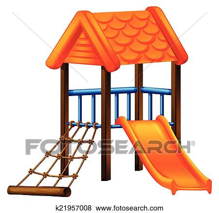 clip art of a play area at the park k21957008 search clipart rh fotosearch com Art Area Kitchen Play Area