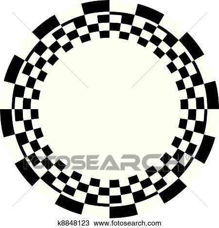 clipart of checkerboard frame spiral pattern k8848123 search rh fotosearch com banner clip art checkerboard checkerboard frame clipart