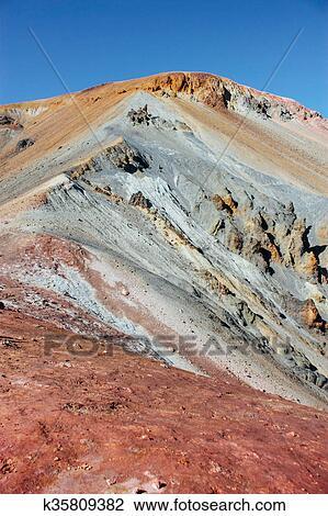 Stock foto ijslands landschap mooi gebergte en vulkanisch gebied met k35809382 zoek - Ongewoon behang ...