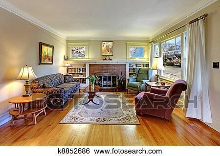 stock bilder altes haus englisches wohnzimmer. Black Bedroom Furniture Sets. Home Design Ideas