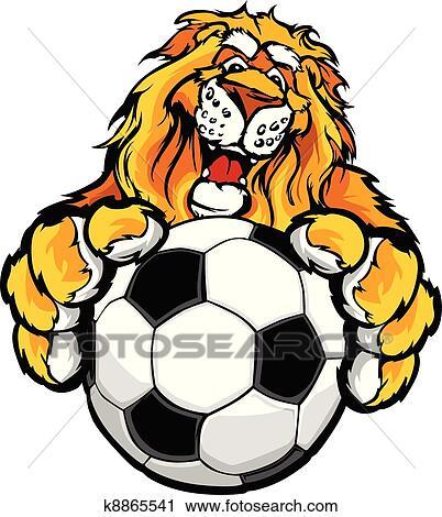 clipart of cute happy lion mascot with soccer k8865541 search clip rh fotosearch com School Lion Mascot Clip Art lion mascot clipart free