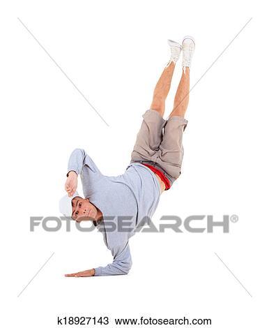 Banco de Imagem - adolescente, dançar, dança ruptura, ação. Fotosearch - Busca de Imagens, Fotografia Poster, e Fotos Clip Art