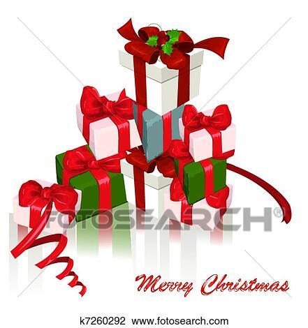 剪贴画 - 圣诞节礼物,