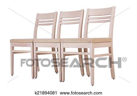 Stuhlreihe clipart  Stock Fotografie - stuhlreihe, freigestellt, auf, dass, weiß ...