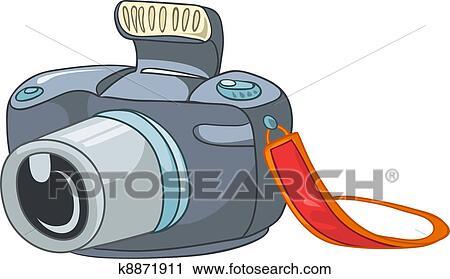 剪贴画 - 卡通漫画, 家, appliences, 照相机