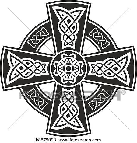 Clipart Of Celtic Cross K8875093 Search Clip Art