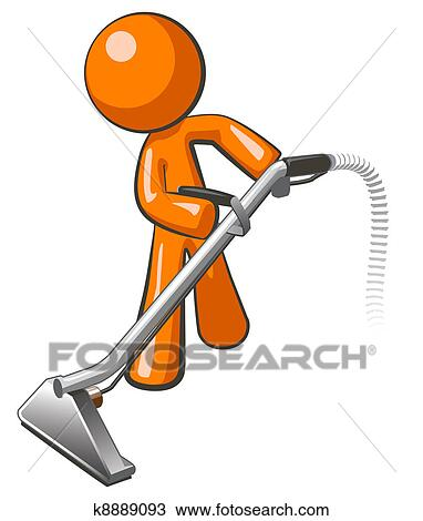 Clip Art Carpet Cleaning Clip Art clipart of carpet cleaning service k4753532 search clip art orange man with steam cleaner wand