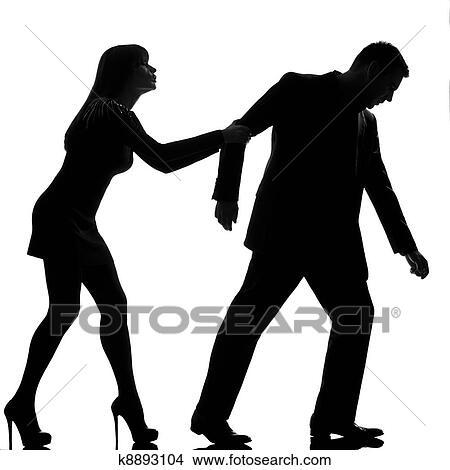 banque de photo une caucasien couple conflit s paration homme partir et tenue femme. Black Bedroom Furniture Sets. Home Design Ideas