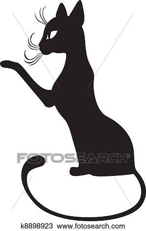 Clipart gatto nero profilo k8898923 cerca clipart for Gatto clipart