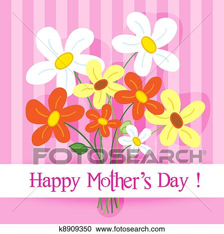 Clipart of Happy mother's day card k8909350 - Search Clip ...
