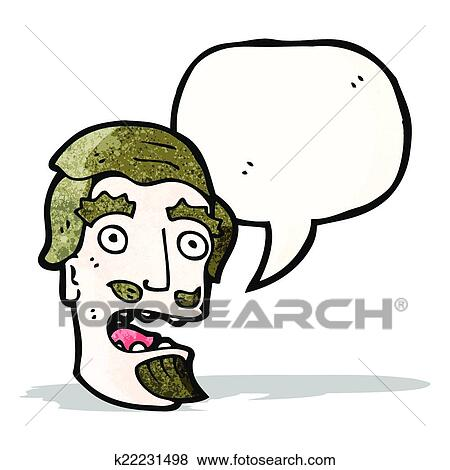 clip art of cartoon shocked man with goatee beard k22231498 - search