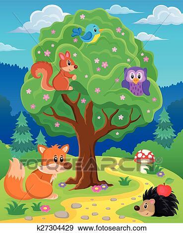 剪贴画 - 森林, 动物, topic, 形象, 3.