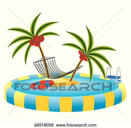 Clip Art Pool Party Clipart pool party clip art and illustration 567 clipart outdoor tropical island