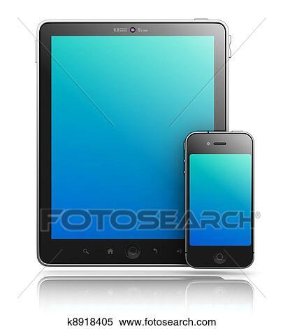 banque d 39 illustrations ipade aimer pc tablette et smartphone blanc fond 3d render. Black Bedroom Furniture Sets. Home Design Ideas