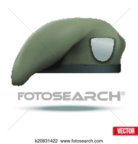 Clipart of Military Tan Beret Army Special Forces ...