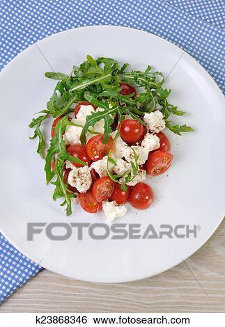Салат с помидорами черри с фото