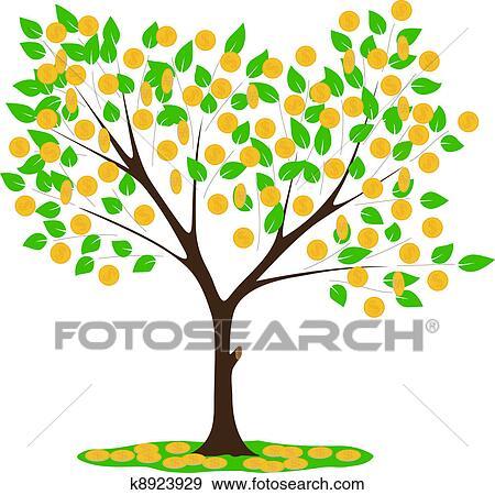 剪贴画 - 钱树图片