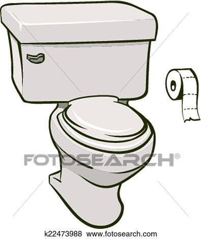 Clip Art Of Toilet K22473988