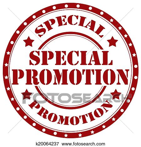 Clip Art of Special Promotion-stamp k20064237 - Search ...