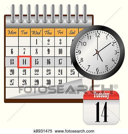 Clipart calendario e clock k8931475 cerca clipart for Clipart calendario
