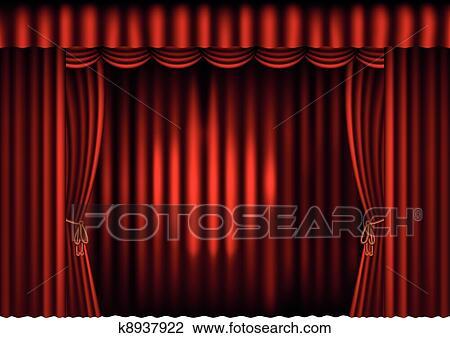 clipart rideaux rouges projecteur k8937922 recherchez des clip arts des illustrations. Black Bedroom Furniture Sets. Home Design Ideas
